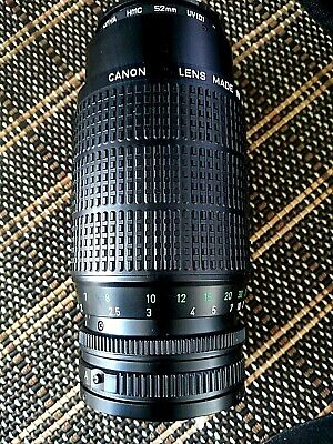 CANON LENS MADE IN JAPAN FD 75-200mm  1:4.5