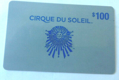 Cirque Du Soleil GIFT CARD FROM CANADA BILINGUAL UNSCRATCHED NO VALUE