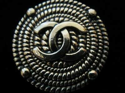 CHANEL 1 BUTTON gold  bronze  23 mm , 1 inch metal with  cc logo