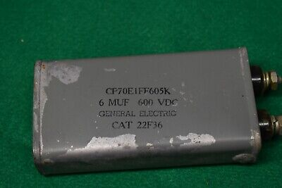 GE 6 uF 600 Vdc, Non-Polarized Oil Can Filter Capacitor Tested