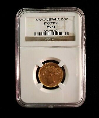 1885M Australia 1SOV St. George MS 61 NGC (Sovereign)