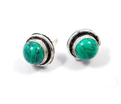 Turquoise .925 Silver Plated Handmade Stud Earring Jewelry JC8181
