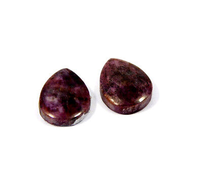 18 Cts. 100% Natural Pair Of Pear Ruby Loose Cabochon Gemstone RRM19156