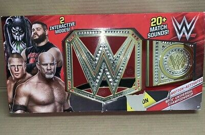 WWE Motion-Activated Universal Championship In Retail Packaging