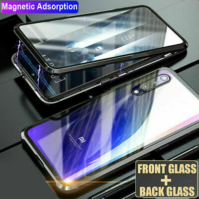 Magnetic Adsorption Metal Glass Back Case Cover For Xiaomi Redmi Note 7 6 5 Pro