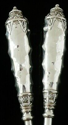 Large Neo Classical Sterling Silver Button Hook & Shoe Horn, Birmingham 1913