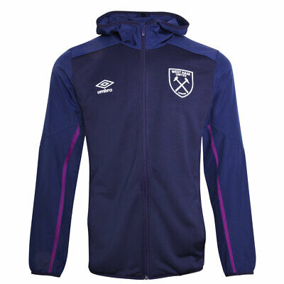 West Ham 2019/20 Adults Hooded Jacket - Evening Blue - Large
