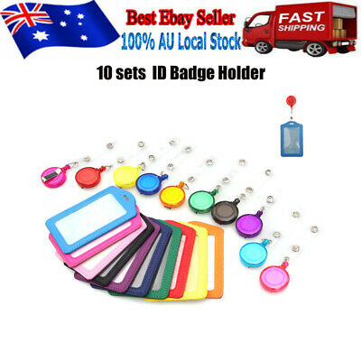 10 set Retractable Lanyard ID, Card Holder, Business Badges, Security Pass