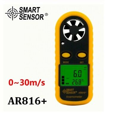 Wind Speed Gauge Air Flow Anemometer Meter Sensor AR816+ Measuring Instrument