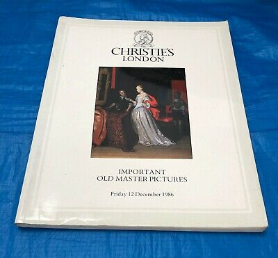 "Christie's London ""Important Old Master Pictures"" Auction Catalogue  December 86"