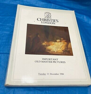 Christie's London Important Old Master Pictures Auction Catalogue December 1984