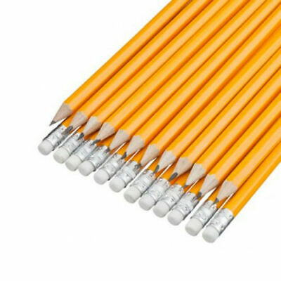 15/1x HB Pencils With Rubber Eraser Tip School Exam Stationary Pencil Multi Pack