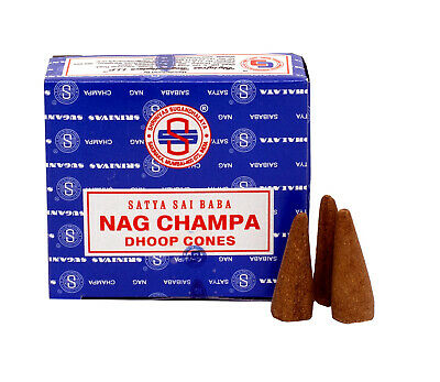 Genuine Original Satya Incense Sai Baba Nag Champa Dhoop Cones - Fresh Stock
