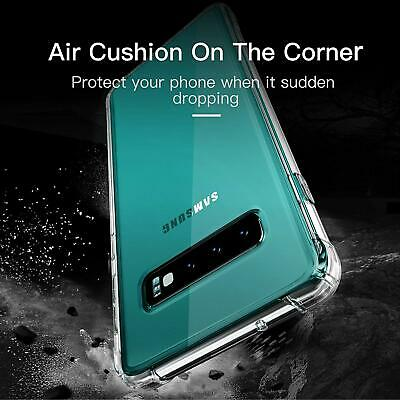 CLEAR Case For Samsung Galaxy S10 Plus S10 S9 S8 S7 Edge Silicone Gel Shockproof