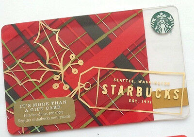 New Starbucks 2016 Seattle Holiday Gift Card Rechargeable Bilingual ! Nice!