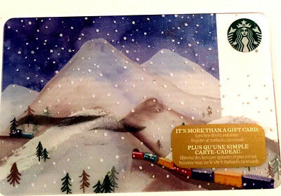 New Starbucks Holiday Train Gift Card Rechargeable Bilingual ! Nice!