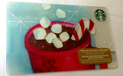 2015 Starbucks Holiday Marshmallow Gift Card No Value Bilingual Rechargeable