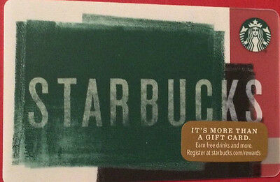 New Starbucks 2016 Green Holiday Gift Card Rechargeable Bilingual ! Nice!