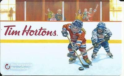 CANADA TIM HORTON KIDS HOCKEY Gift Card New No Value RECHARGEABLE BILINGUAL !