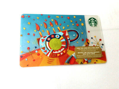 2015 Starbucks Candles Gift Card No Value Mint Bilingual Rechargeable