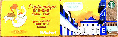 ST-HUBERT STARBUCKS Limited Ed COLLECTIBLE Gift Card New No Value RECHARGEABLE!