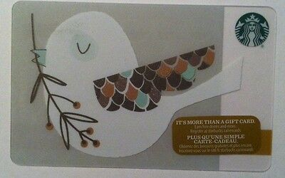 New Starbucks 2016 Bird Holiday Gift Card Rechargeable Bilingual ! Nice!