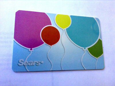 SEARS CANADA LTD COLLECTIBLE BALLOONS Gift Card New No Value