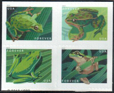 SC#5395 - 5398a - (Forever) Frogs Booklet Pane of 4 w/USPS Logo on Back MNH #3