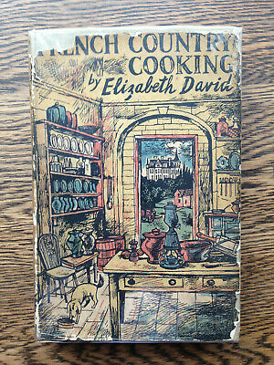 Elizabeth David – French Country Cooking (1st UK 1952 hb w dw) John Minton art