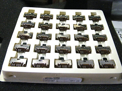 Alco Mssa-3350 3P3T Slide Switch (Lot Of 25 Pieces)