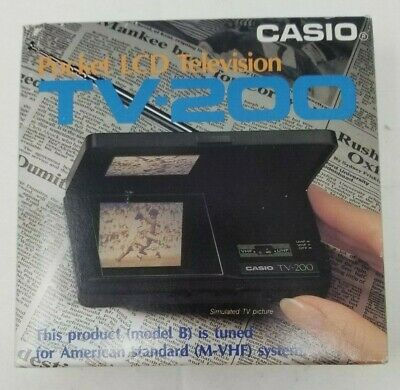 Vintage Casio TV-200 Pocket LCD Television In Box