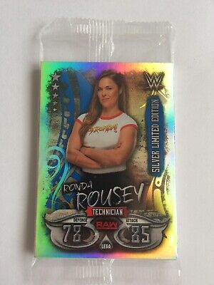 TOPPS WWE SLAM ATTAX LIVE SILVER LIMITED EDITION RONDA ROUSEY Pack