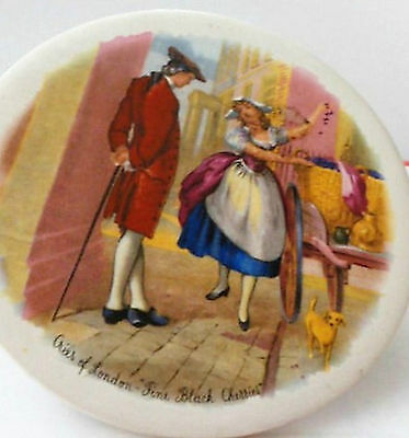 =H & R=JOHNSON CRYSTAL TILE NAPOLEONIC MARKET SCENE='Cries Of  London' FINE BLAC