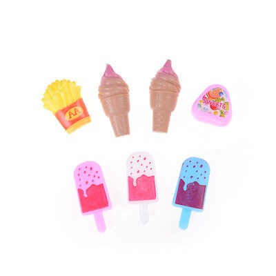 7X Mini Ice Cream Popsicle Potato Chips Sugar For  Doll House Food Decor GF