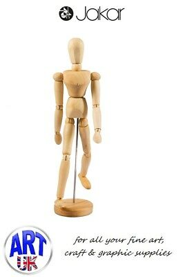 "Jakar Artists Wooden Lay Figure Drawing Aid Male Manikin 12"" - 9011"