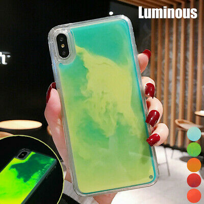 Luminous Liquid Quicksand Hybrid Case Cover For iPhone 11 Pro Xs Max X XR 8 7 6s