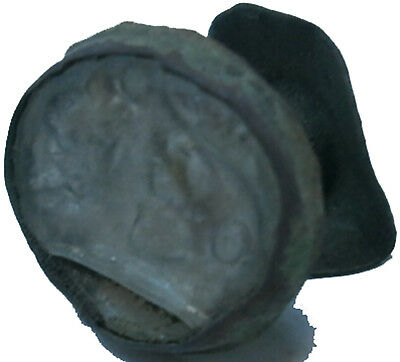 Antique Stone or Glass Fragment Bronze Part Rare Old Europe Crown