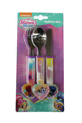 Shimmer and Shine Cutlery Set Spoon Fork Knife Children's Dinnerware Gift Idea