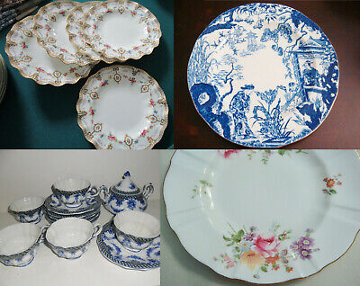 Royal Crown Derby PLATES Blue Mikado DERBY POSIES LOMBARDI PICK ONE