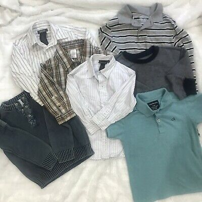 Calvin Klein GAP Toddler Boys Shirts Bundle Lot Size 3T-4T