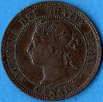 Canada 1899 1 Cent One Large Cent Coin - EF (corrosion)