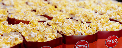 Qty: 5 AMC Theaters LARGE POPCORN Gift Certificates