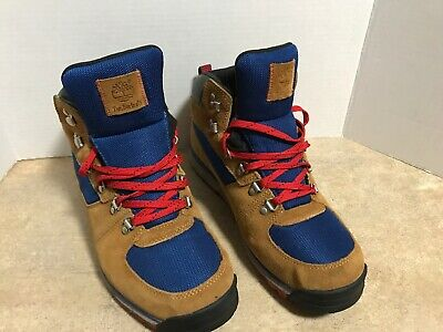 MEN'S TIMBERLAND GT SCRAMBLE BROWNBLUE HIKING [2215R] Boots (Size: 10.5)