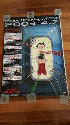 Rare Astro Boy Birth JR Promo Rail Poster