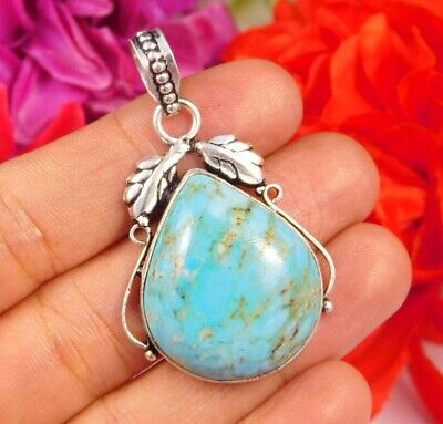 Dashing Turquoise .925 Silver Plated Handmade Pendant Jewelry JC2470