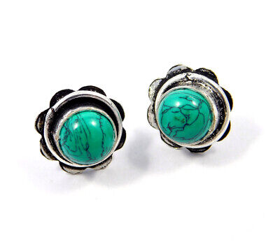 Turquoise .925 Silver Plated Handmade Stud Earring Jewelry JC8116