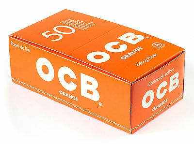 1 box - OCB ORANGE single wide rolling paper regular size 69mm - 2500 papers