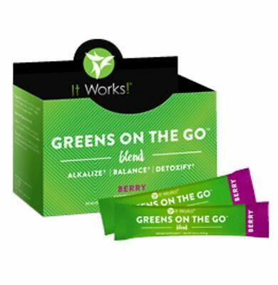 It Works! Greens on the Go Blend 30 Packets - Berry Flavor - NEW - Free Shipping
