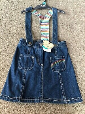 Little Bird By Jools Oliver Rainbow Stripe Skirt With Braces 6-7 Years