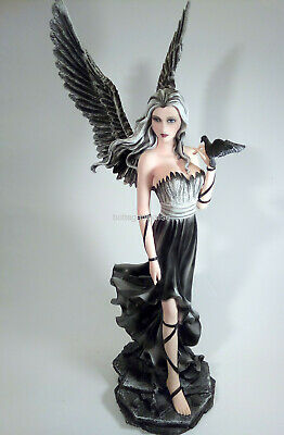 ANGELO GUARDIANO LES ALPES 044 149 GUARDIAN ANGEL TENEL CON COLOMBA NERA H.60cm